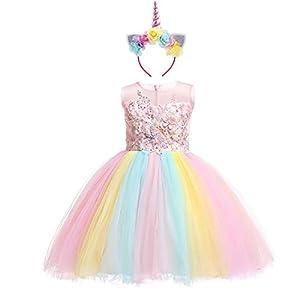 Unicornio Vestido de Princesa Flor