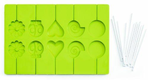 Ibili 754900 Moule pour Sucettes 100% silicone + 24 Bâtons