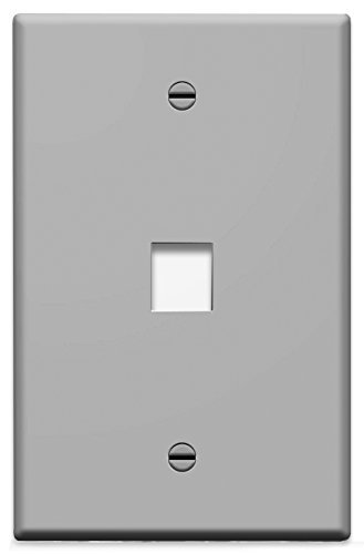 On-Q/Legrand WP3401GY 1 Port Single Gang Wall Plate, Gray by Legrand-On-Q - Gray Wall Plate