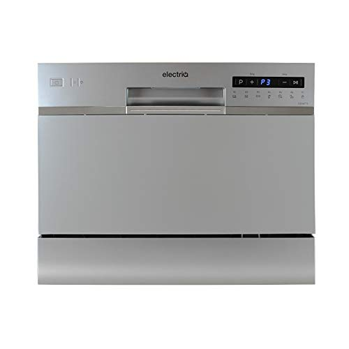 312OvFf5Z3L. SS500  - electriQ 6 Place Freestanding Compact Table Top Dishwasher - Silver