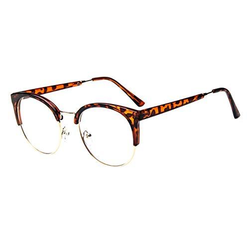 aee3d54894d4 E-CHENG Anti-Radiation Goggles Glass Spectacles Women Metal Plastic Semi  Circle Half Frame