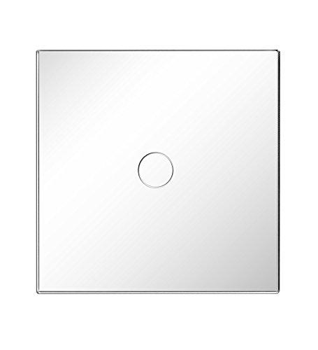 Dimmer Touch Lichtschalter Mit LED-Anzeige Weiß 1 Fach Wechselschaltung - Kompatibel mit Glühlampe, Philips dimmbare LED Lampen