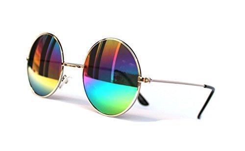 Jahre Vintage Sonnenbrille Sommerbrille Clubmaster Style Rockabilly Trend 2017 2018 Mode Fashion Fashionbrille Designer Brille John Lennon rund runde gläser ()