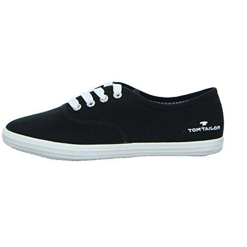 TOM TAILOR  2792401 0, Chaussures de ville à lacets pour femme Noir
