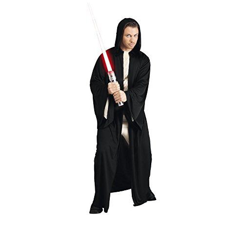 Imagen de lucas  st 16222  disfraz con capucha para adultos  vestido de jedi  negro  un tamaño