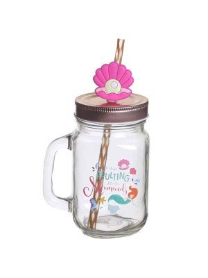 Enchanted Seas Mermaid Slogan Glas Mason Trinken Jar