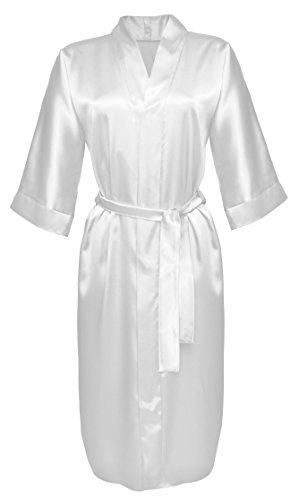 Lady-Mode Morgenmantel aus Satin 115cm (XS - 2XL) Ekri
