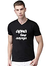 731766b6b Vfashion Apna Time Aayega Half Sleeve Black