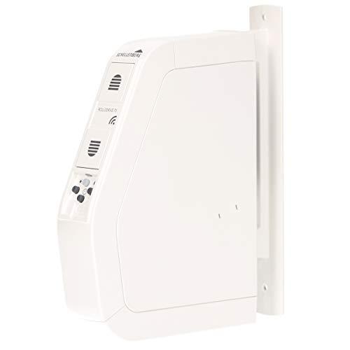 Schellenberg 22576 Funk-Gurtwickler RolloDrive 75 Premium, weiß/ Zugkraft max. 30 kg, Aufputz/ Geeignet für SH1, Smart Friends und Magenta SmartHome/ Steuerung per Fernbedienung und Funk-Zeitschaltuhr
