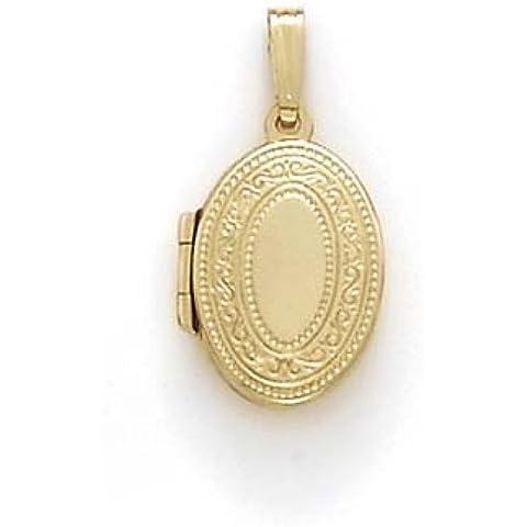 14K oro piccolo Ovale Medaglione