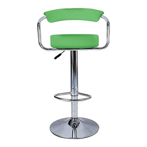 Eeayyygch grün & Chrom Swivel Bar Küche Frühstück Hocker Stuhl (Farbe : -, Größe : -) (Grüne Frühstück Kissen)
