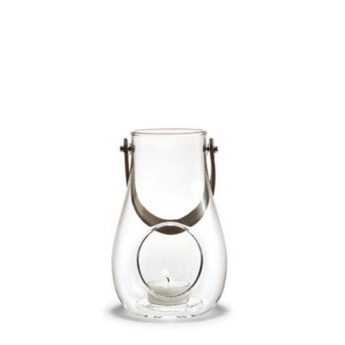 Preisvergleich Produktbild Holmegaard DWL Laterne - Windlicht mit Lederhenkel - klar - Höhe 16 cm