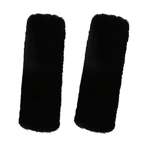 Preisvergleich Produktbild Ersatz-Schulterpolster und Gurt für Kamera,  Rucksack,  Messenger,  Laptop,  Gitarre,  Tasche,  Klettverschluss,  verstellbare Schulterpolster mit Memory-Schaum,  lang und bequem 2 Wool Black