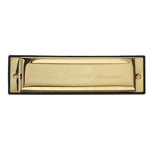SW1020-7 Mundharmonika, 10 Löcher, 20 Töne, C-Schlüssel, Goldfarben (Baby Gefrorenen Kleid)