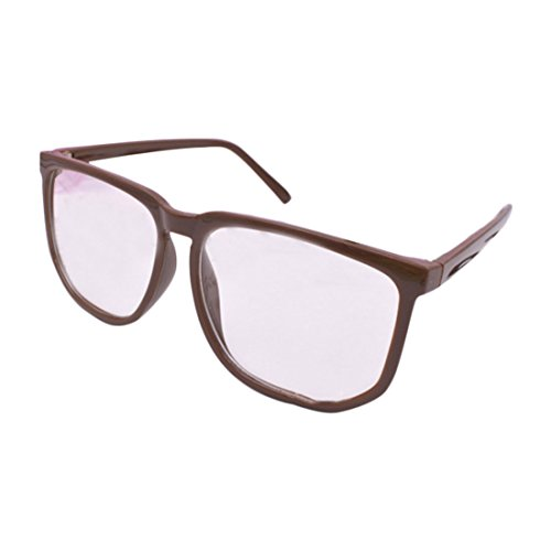 Glasses Frame Fashion Frame Tide Retro Leopard Large Black Box Plain Glasses Frames Big Frame Eyes for Men and Women ()
