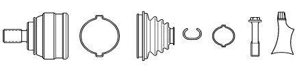 SPIDAN 22763 Gelenksatz, Antriebswelle