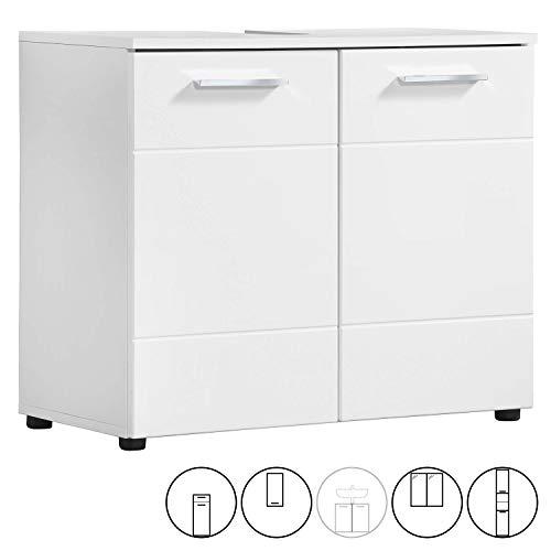 mokebo® Waschbeckenunterschrank 'Der Waschbär', moderner Badschrank, Badezimmerschrank oder Waschtisch im Badmöbel Set, Made in Germany