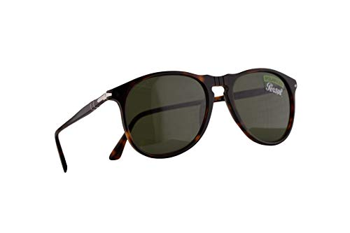 Persol 6649-S-M Sonnenbrille Havana Braun Mit Polarisierten Grünen Gläsern 55mm 2458 6649SM PO6649SM PO6649-S-M