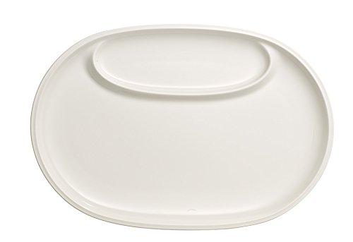 Villeroy & Boch Passion pour Barbecue Poisson, Assiette, Porcelaine, Blanc, 33,5 x 22,5 cm