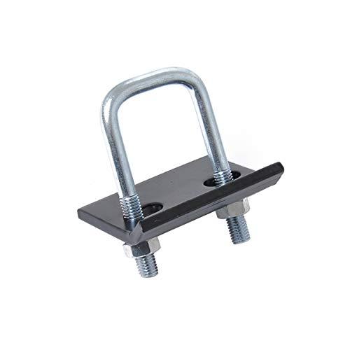 Vosarea Utility Anhängerkupplung Stabilisator U-Form Einsatz Anhängerkupplung Empfänger Abdeckung Stecker Fixierer (Schwarz + Silber) -