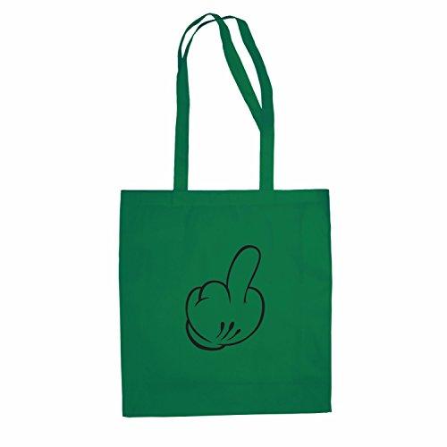 Baumwolltasche Mickey Mittelfinger Jutebeutel inspired Disney lange Henkel Einkaufstasche Rot