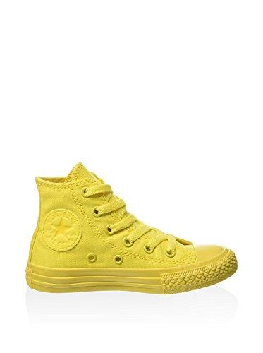 CONVERSE - Scarpa Sneaker rossa stringata, in tela, scarpa sportivo casual, Bambina, Donna Aurora Yellow
