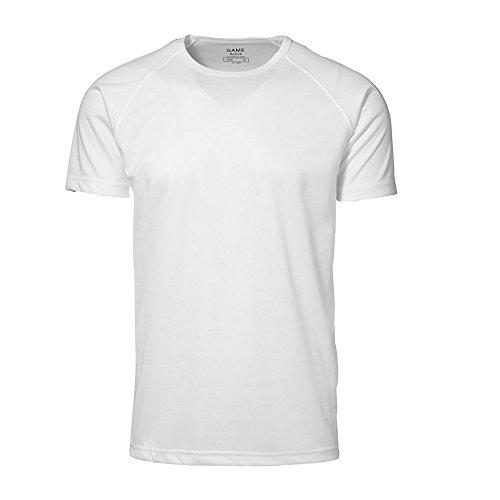 ID - Maglietta Sportiva a Manica Corta Taglio in Figura - Uomo Grigio