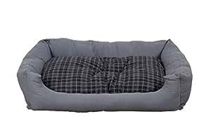 hundebett modern grau 100x70 cm mit wendekissen amazon. Black Bedroom Furniture Sets. Home Design Ideas