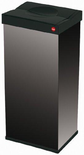 Hailo 6402-761 Big Box - Cubo de la Basura Grande con Tapa giratoria 60 litros, Color Negro