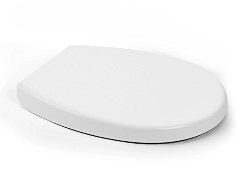 Aqua Bagno Smile Universal Premium WC-Sitz - hochwertige Antibakterielle Klobrille aus Duroplast mit Softclose und abnehmbar - Toilettensitz - Klodeckel einfache Montage - easyclean Toilettendeckel