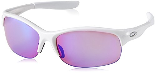 Oakley Women's Commit Squared Non-Polarized Iridium Cateye Sunglasses, Polished White, 62.01 mm