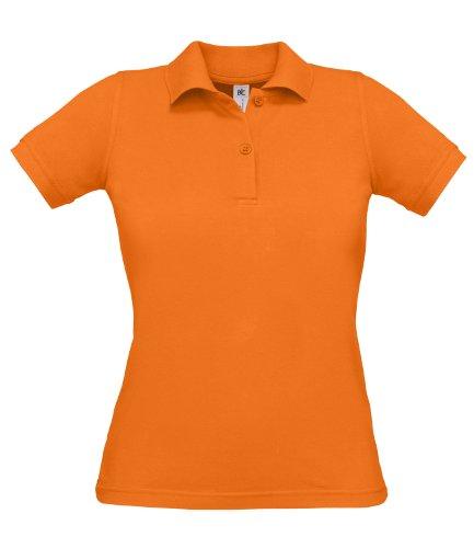 B&C Safran - Polo - Femme arancione zucca