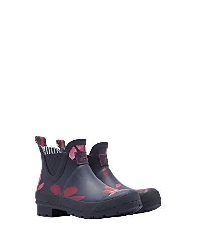 Womens Leaf (Tom Joule Joules Wellibob Kurze Womens Boot Gummistiefel (Z) French Navy Chestnut Leaves UK8 EU42 US10)