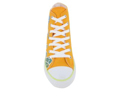 Converse , Baskets mode pour fille Jaune/blanc