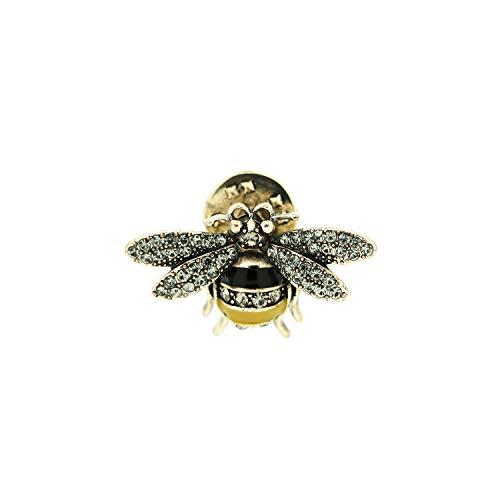 Sweet Deluxe Pin Little Bee, antiksilber/Crystal/gelb/schwarz I Schmuckset für Damen I Modeschmuck Set für Frauen I modisches Design Accessoires Set
