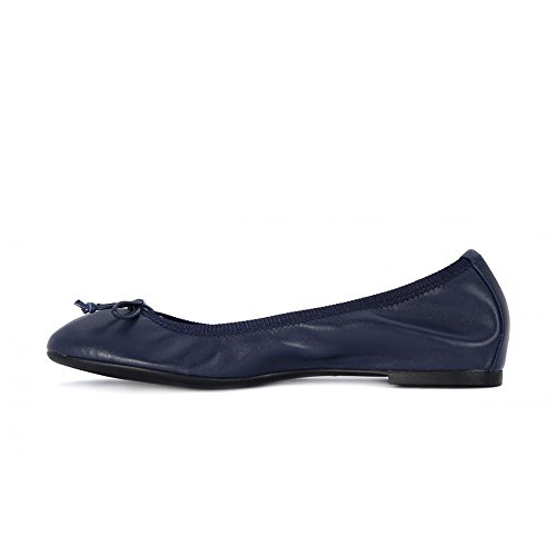 FRAU 70N0 blu scarpe donna ballerine elasticizzata pelle Nero