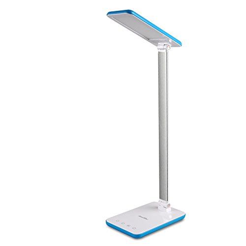 LED Schreibtischlampe - Ascher Schreibtischlampe LED Modern Tischleuchte 8W Augenschutz Dimmbar und Faltbar, Mehrere Farbtemperaturen (2700-6500K),Verstellbarer Arm, LED Leselampe