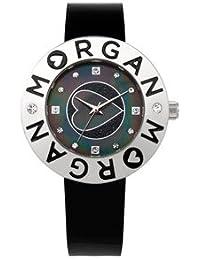 Morgan M1127WRG - Reloj analógico de cuarzo para mujer con correa de piel, color blanco