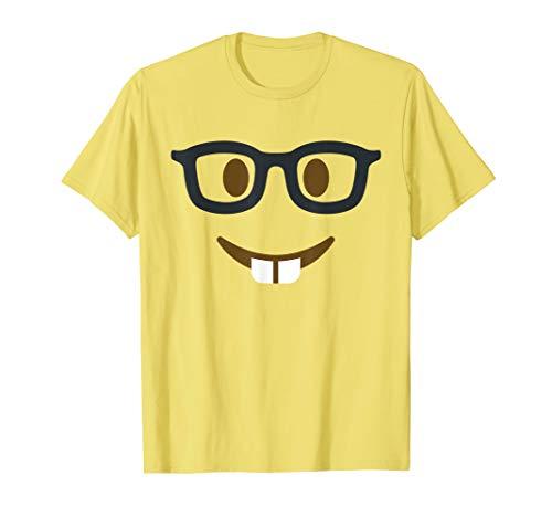 Kostüm Halloween Nerd - Geeky Emoji Nerd Gesichtsbrille Halloween Gruppe Kostüm T-Shirt