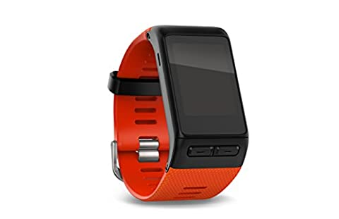 Garmin vívoactive HR Sport GPS-Smartwatch (integrierte Herzfrequenzmessung am Handgelenk, diverse Sport Apps) - Lavarot / Rot - inklusive gratis Wechselarmband