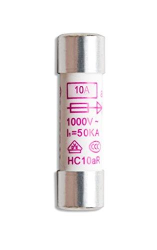PeakTech P 7530Set Cerámica Fusible, 10mA/1000V, 10.3x 38mm, multímetro, 10unidades)