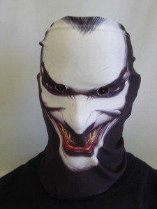 L&S PRINTS FOAM DESIGNS Halloween Novelty Fun Stoff Face Maske Neckwarmer Snood Fancy Kleid hergestellt in Yorkshire