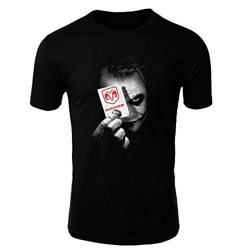 Dodge 2 Joker 1 Camiseta Hombre Coche Clipart Car Auto tee Top Negro Mangas Cortas Largas Presente (M, Black - Short)