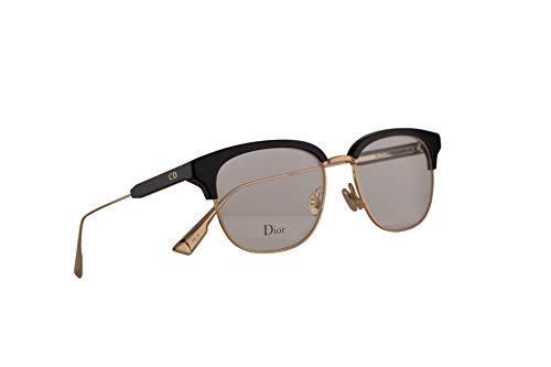 Christian Dior MyDiorO2 Brillen 52-17-145 Schwarz Gold Mit Demonstrationsgläsern 2M2 MyDior02 MyDior O2 (Kontaktlinsen Designer,)