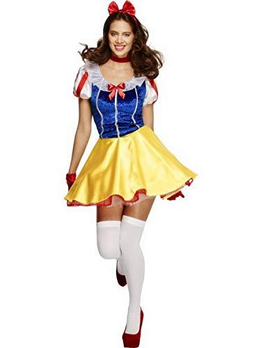 Frauen Märchen Prinzessinen Kostüm, Kleid mit Kopfschmuck und Choker, perfekt für Karneval, Fasching und Fastnacht, S, Blau ()