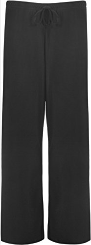 New Ladies Plus Size Palazzo Trousers Womens Baggy Flared Wide Leg Pants Sizes 12 - 30