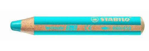 Preisvergleich Produktbild STABILO MultitalentStift woody 3 in 1, cyanblau für Kinder