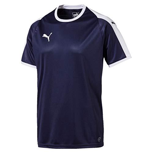 PUMA Liga Jersey Camiseta, Hombre, Azul (Peacoat/White), M