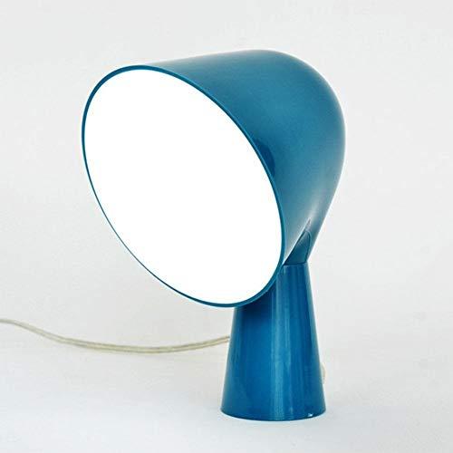 wall clock Schutzaugenschreibtisch-Collegeschlafsaal der Tischlampe einfacher moderner kreativer Schlafzimmerbettlesebeleuchtungsstecker, blau - Kratzfeste Arbeitsfläche