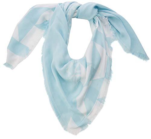 Calvin Klein Damen Quilt Foulard Scarf Schal, Blau (Pale Blue 458), One Size (Herstellergröße: OS)